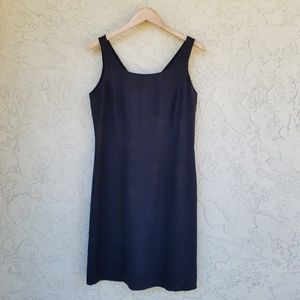 Tommy Bahama Black Silk Sleeveless Shift Dress